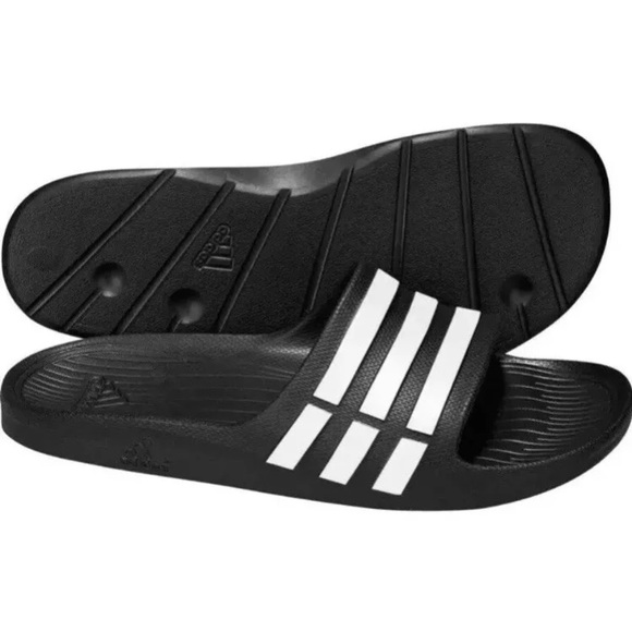more photos a0980 bdae5 Adidas Duramo Slides Sandals NEW!